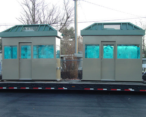STEEL 6 X 12 BULLET RESISTIVE GUARDHOUSE WITH HIP ROOF 2